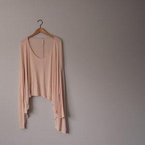 Free People Blush Pink Flowy Tunic Top Size Medium